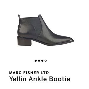 Marc Fisher LTD Yellin Ankle Bootie Black Leather